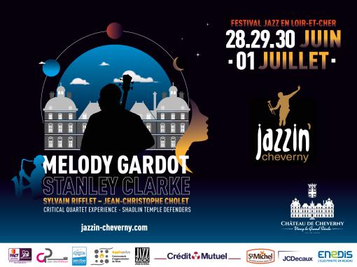Création graphique festival Jazzin'Cheverny 2018